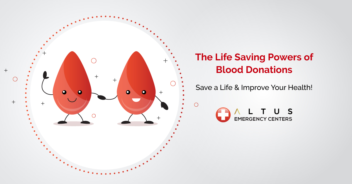 Blood Donations Save Lives Improve Your Health Altus ER Texas
