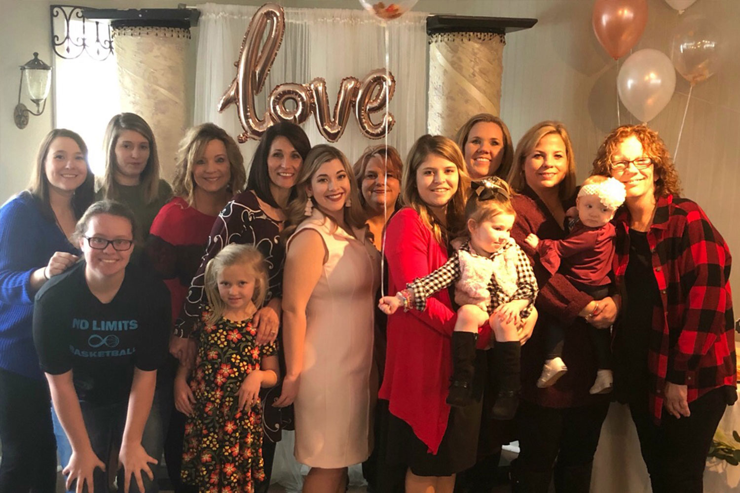 Four generations of family! My mom, all 4 sisters, our daughters and their daughters! It just makes my heart so happy to see us all in that picture.