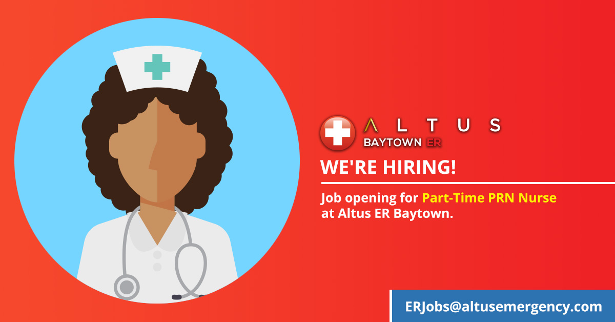 PRN Emergency Room Nurse - Job Opening Altus Baytown ER