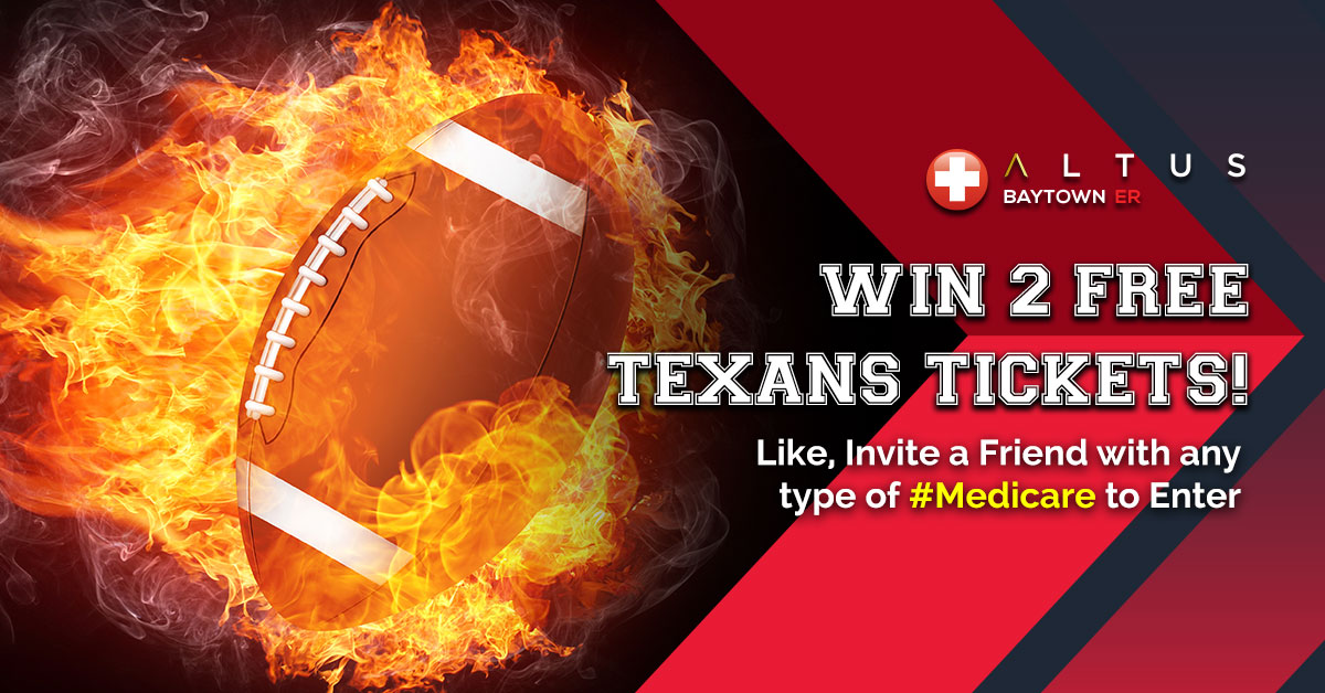 Altus Baytown ER's Free Texans Tickets Sweepstakes 2019