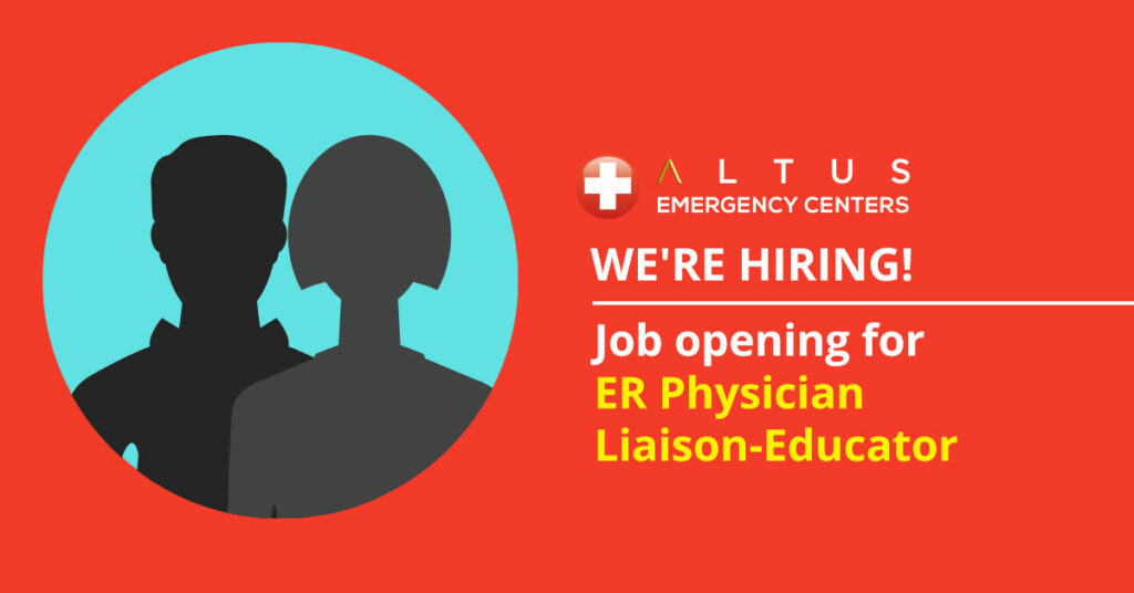 ER Physician Liaison-Educator Job Opening
